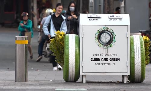 Trash bins or flower pots? Saigon's smart refuse solution