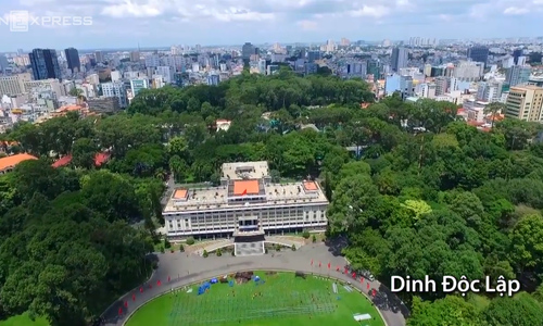 Ho Chi Minh City's famous landmarks seen from above