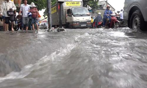 And the flooding season began in Saigon