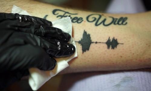 Artist creates tattoos you can hear