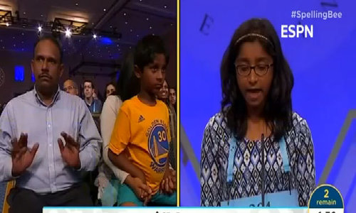 Ananya Vinay wins the 2017 US Scripps National Spelling Bee
