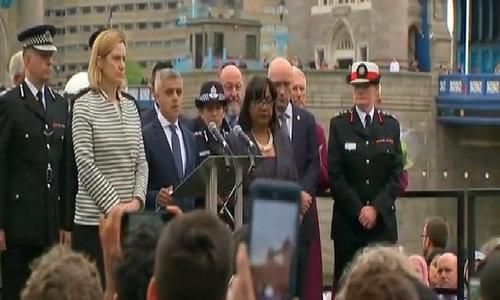 London mayor leads vigil for 'loss of innocent lives'