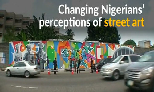 With a can of spray paint, Nigerian graffiti artist looks to change perceptions