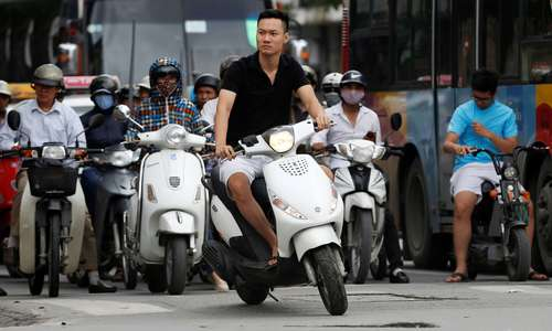 Are motorbikes to blame for gridlock in Hanoi?