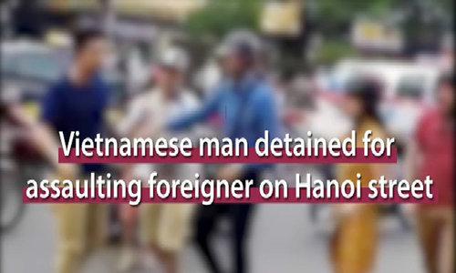 Vietnamese men arrested for attacking American in Hanoi