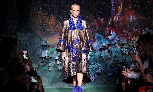 Fendi brings flower power to Paris