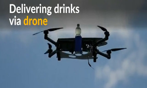 Estonian company delivers drinks by drone