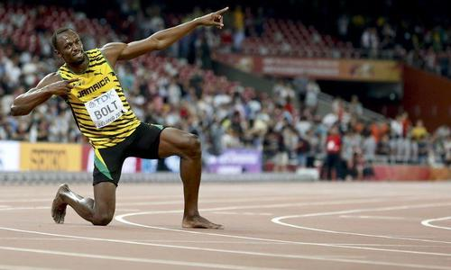 Usain Bolt collapses through injury during final race