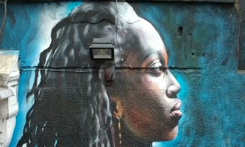 Street art illustrate the lives of inspiring black women in London