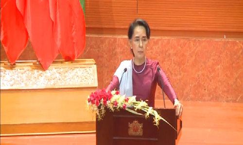 Myanmar government will work hard to restore peace in Rakhine state: Aung San Suu Kyi