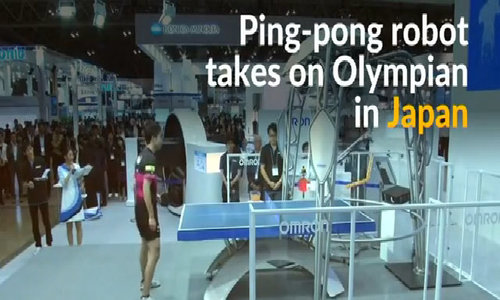 Ping-pong robot challenges Olympian in Tokyo