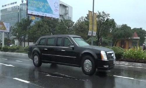 U.S. vehicle fleet arrives in Da Nang for APEC