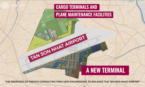 The proposal of French consulting firm ADPi Engineering to enlarge the overstrained Tan Son Nhat Air