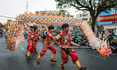 Tet Nguyen Tieu, or  the Lantern Festival parade in Ho Chi Minh City
