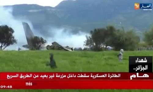 More than 100 feared dead in Algerian military plane crash