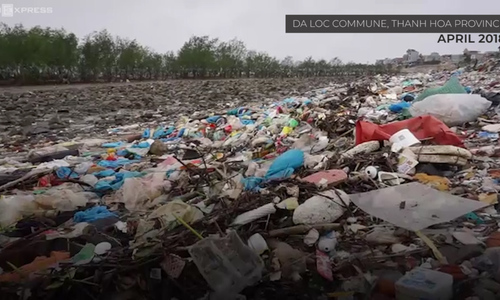 Marine trash turns Vietnamese forest into garbage field