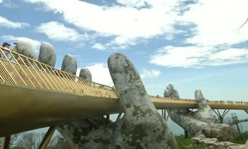 'Giant hands of Gods' hold up Vietnamese bridge