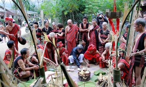 Harvest festival of central Vietnam ethnic group