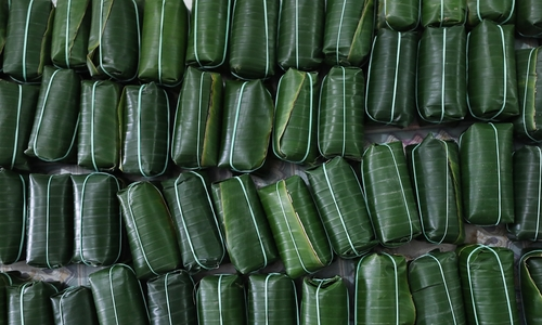 These banana leaf wrap fermented pork rolls are the sausage of your dream