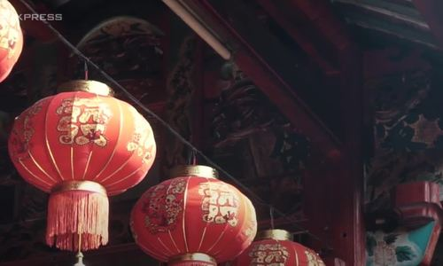 A minute in a 100-year-old Chinese temple in southern Vietnam