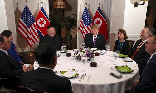 Trump, Kim kick start high-profile summit with dinner