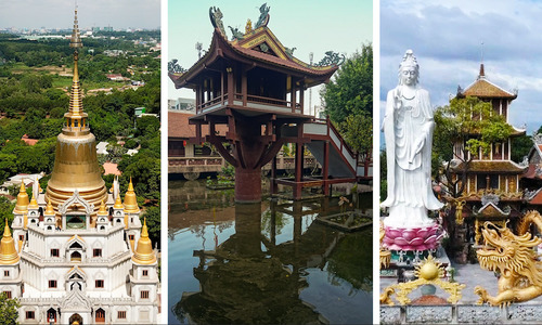 Visit 3 unique temples in and around Saigon