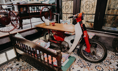 Discarded stuff return to life in Hanoi coffee shop