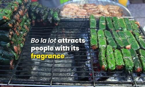 Fragrant grilled beef rolled in lolot leaf (edited, Hạnh đã xem)