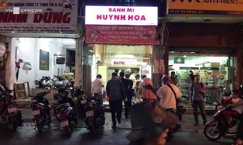 Saigon's famous banh mi stall