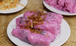 In a Hanoi restaurant, rice paper rolls turn pink and sweet
