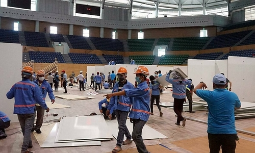 Da Nang converts sports center into Covid-19 field hospital