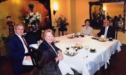 Former president ate here: restaurant owners recall Bush's arrival