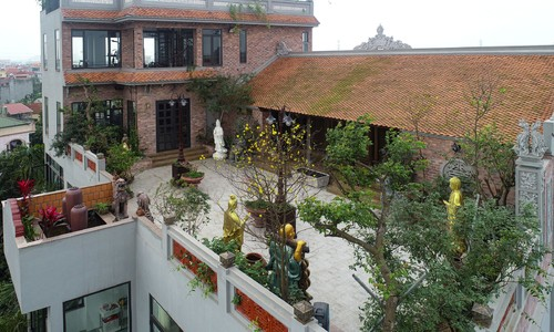 Where old meets new: century old ancestral home erects atop Hanoi villa