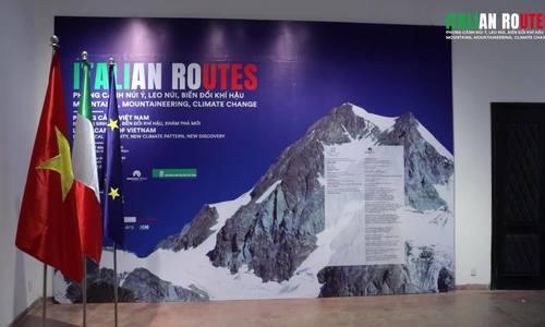 Italian-Vietnamese mountain landscape exhibition offers virtual trip about climate change