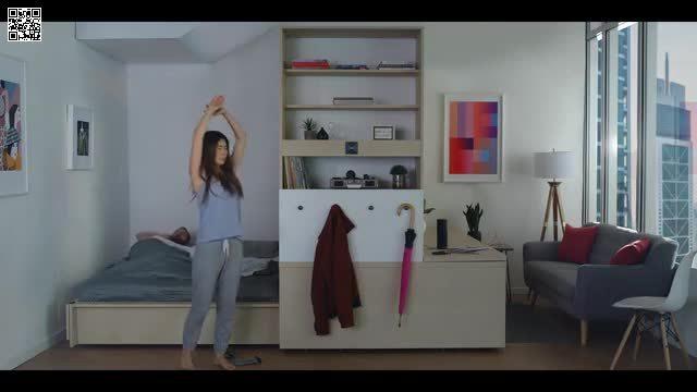 Căn hộ có thể tự tạo thêm phòng chỉ nhờ thao tác trên smartphone