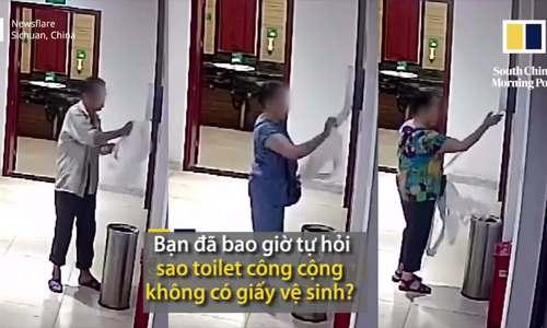 Thủ phạm trộm giấy trong các toilet công cộng Trung Quốc