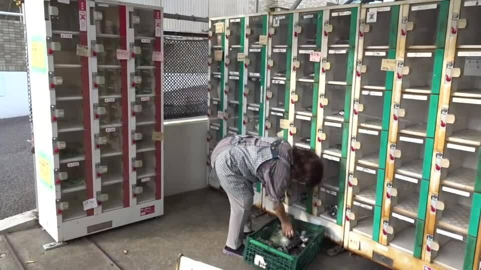 Bán rau củ trong tủ tự động ở Nhật