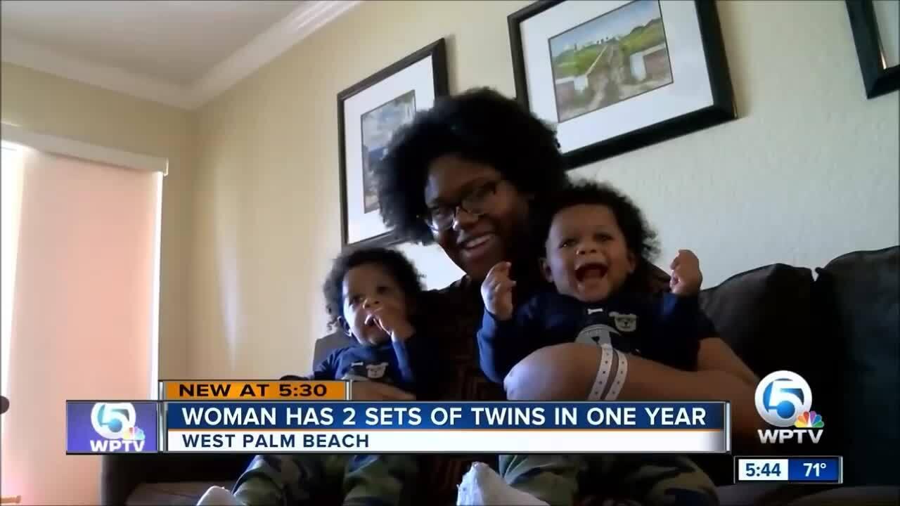 Đẻ hai cặp sinh đôi trong một năm