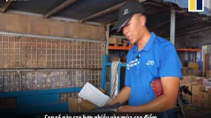Shipper một chân giao được gần 300 đơn hàng mỗi ngày