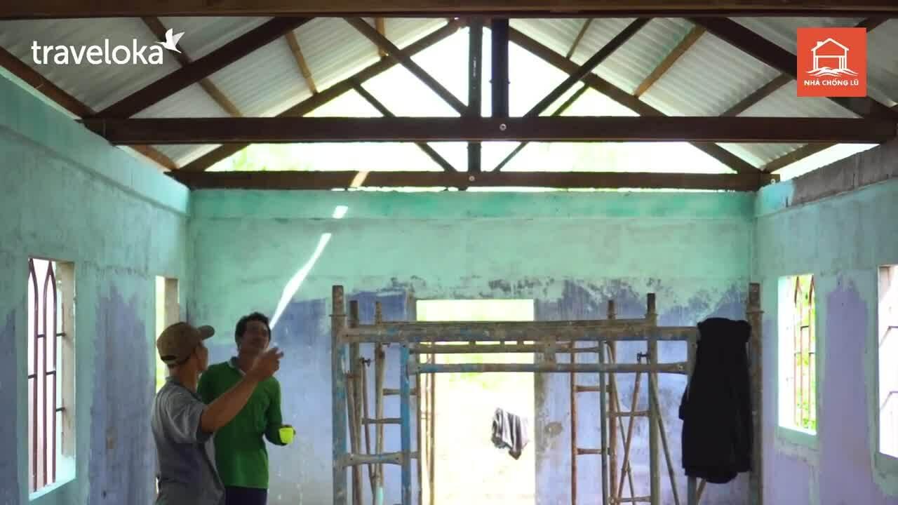 Traveloka ủng hộ chương trình xây nhà chống lũ