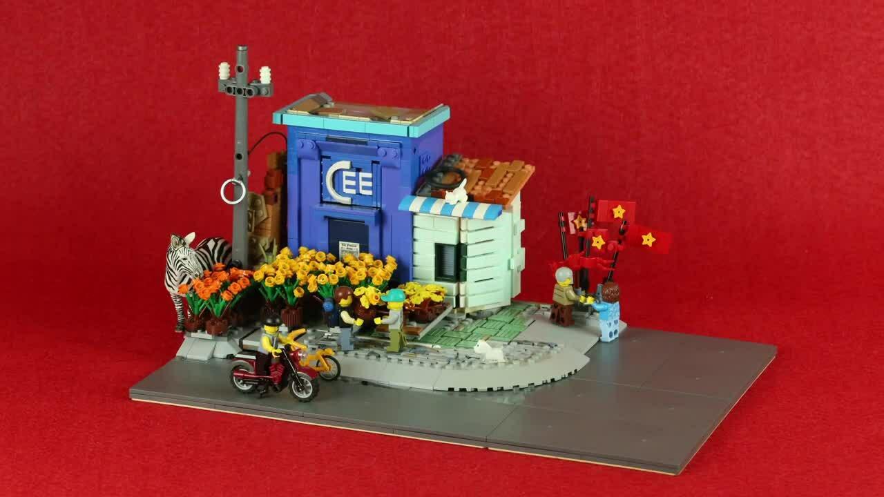 Chàng trai Sài Gòn tái hiện Tết qua Lego