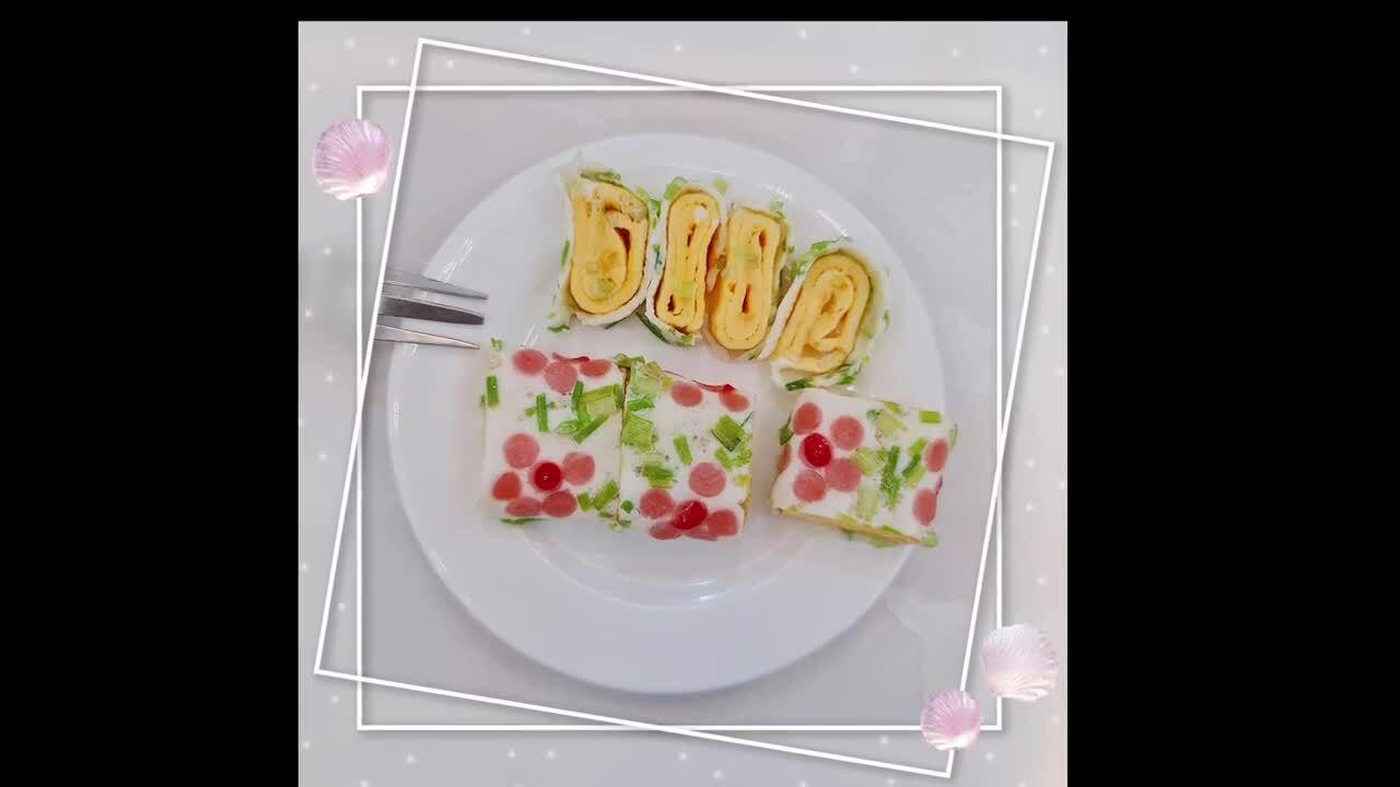 Trứng cuộn hoa đơn giản mà đẹp mắt