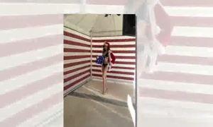 Diễm Hương chụp bikini tại Las Vegas