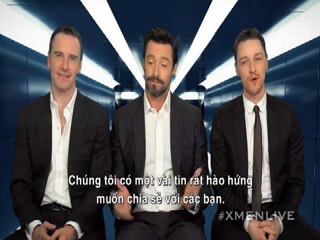 """Ba tài tử X-Men giới thiệu """"Trải nghiệm X"""" tới khán giả"""