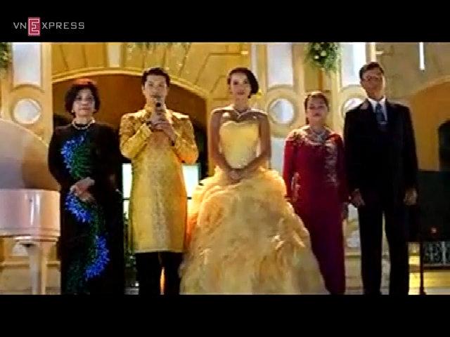Dustin Nguyễn nói lời cám ơn tại tiệc cưới