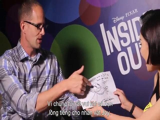 Đạo diễn 'Inside Out' tặng tranh cho Miu Lê