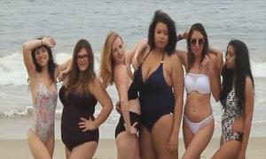 Phụ nữ đủ vóc dáng thử áo tắm Victoria's Secret