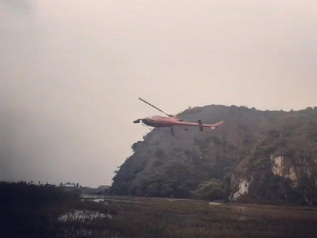 Trực thăng bom tấn 'Kong: Skull Island' bay qua Ninh Bình