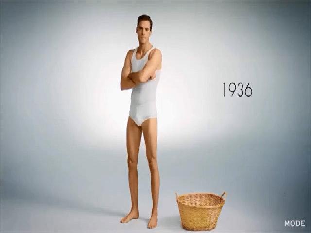100 năm phát triển của dòng đồ lót nam