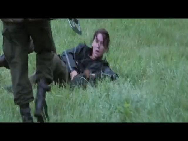 Cảnh hành động trong 'The Hunger Games'